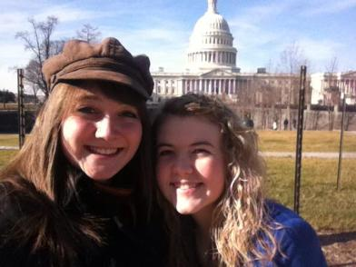 Holly and friend at Capital Hill